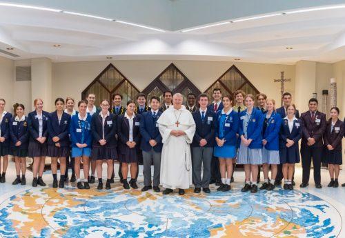 High School Students meet the Archbishop